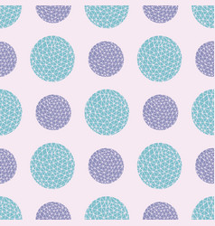 Spotty circular repeat pattern with vector
