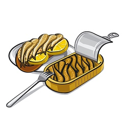 Sprats with sandwich vector