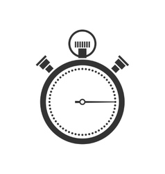 stopwatch or chronometer icon vector image