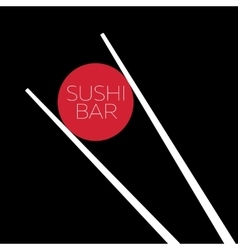 Sushi bar food logo template vector