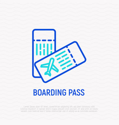 tickets for plane thin line icon vector image