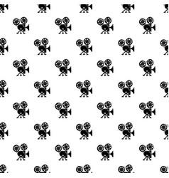 video camera pattern seamless vector image