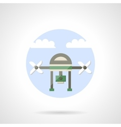 Video drone flat color design icon vector