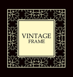 vintage decorative frame vector image