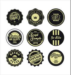 Vintage labels black and beige set 2 vector
