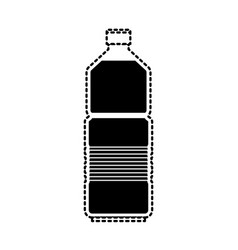 water bottle icon in black dotted silhouette vector image