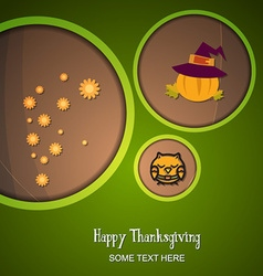 With thanksgiving and owl vector