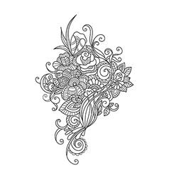 Zentangle floral pattern vector