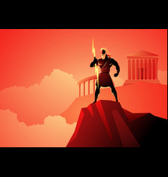 Zeus the father gods and men vector