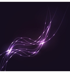 Abstract purple waves background vector image