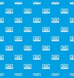 cassette tape pattern seamless blue vector image