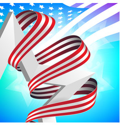 Happy memorial day greeting card with national vector