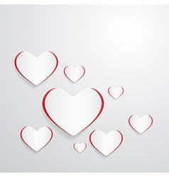 Paper Hearts Abstract Background vector image vector image
