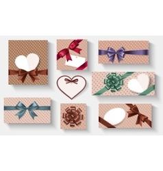 Retro gifts set vector image