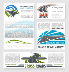 road service and building company templates vector image vector image