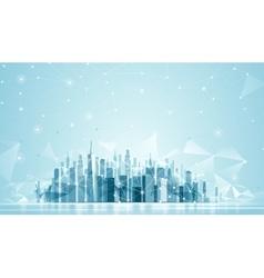 Urban Landscape Global network vector image vector image