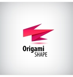 abstract origami logo 3d company identity vector image