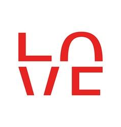 Logo Love vector image vector image