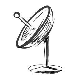 Satellite dish Sketch vector image