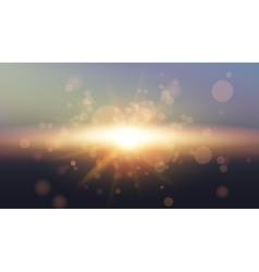 Sky Sun Realistic Bokeh Design Abstract Shining vector image