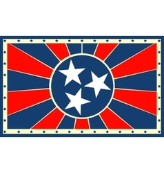 Tennessee state sun rays banner vector image