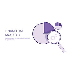 financial analysis business concept data vector image vector image