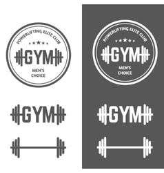 Gym Powerlifting vector image