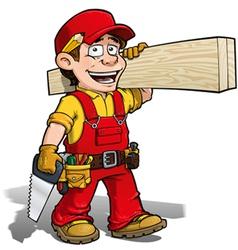 Handyman Carpenter Red vector image vector image