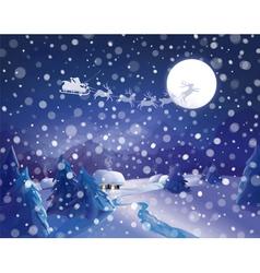 winter santa vector image