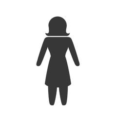 Woman icon Pictogram design graphic vector image vector image