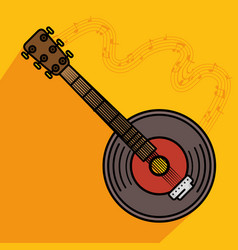 banjo musical instrument icon vector image vector image