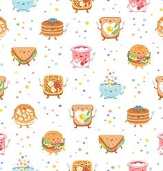 Best breakfast ever seamless pattern vector image vector image