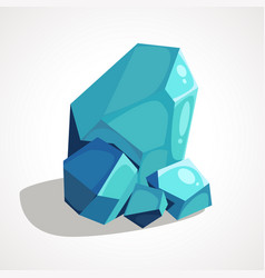 cartoon crystal gemstone vector image