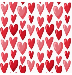 Cute Valentines Day seamless pattern with red vector image vector image
