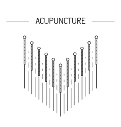elements for acupuncture and massage TCM vector image