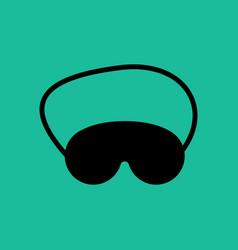 eye mask vector image