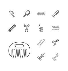 13 hairdresser icons vector