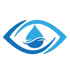 abstract eye water logo icon vector image