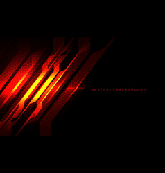 Abstract red fire circuit cyber slash hexagon mesh vector
