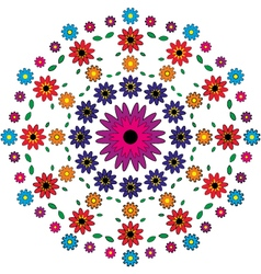 Adult coloring book page floral mandala pattern vector