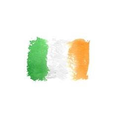 Art flag Watercolor flag Italy Irish art flag vector