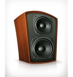 Audio speaker in plane wooden body vector image