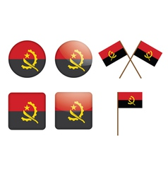 badges with flag of Angola vector image
