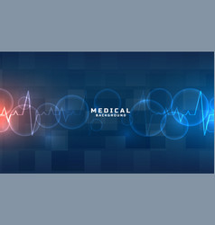 Blue medical and healthcare background design vector