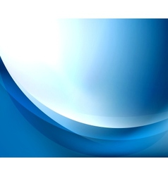 Blue smooth wave template vector image