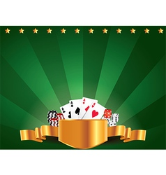 Casino horizontal background vector