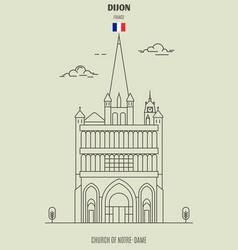 church of notre-dame of dijon vector image