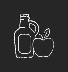 Cider-to-go chalk white icon on black background vector