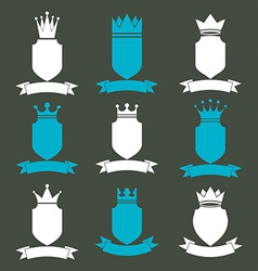 Collection of empire design elements Heraldic vector image