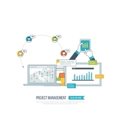 Concept of project management investment finance vector image